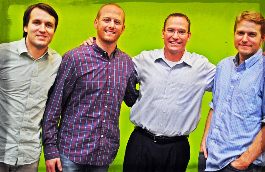 The Infusionsoft & GroSocial Team: Zach Mangum, Kevin Kirkland, Clate Mask and Chris Wright.