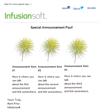 Free Infusionsoft Email Templates Pack 1